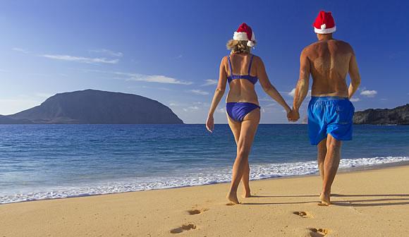 Navidad al sol en las Islas Canarias