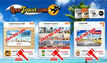 Subastas de viajes y vuelos Locotravel.com